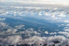 Bei nubi e cielo immagine stock