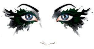 Bei occhi di una donna illustrazione vettoriale