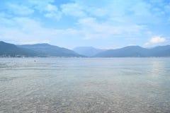Bei paesaggi della baia, la baia di Cattaro, protetta dall'Unesco Fotografie Stock Libere da Diritti