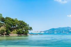 Bei paesaggio e tropicale Vista sul mare, vista del mare con il blu Fotografia Stock