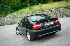 Bei paing e origi metallici neri automobilistici storici bavaresi Immagini Stock Libere da Diritti