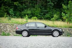 Bei paing e origi metallici neri automobilistici storici bavaresi Immagine Stock Libera da Diritti