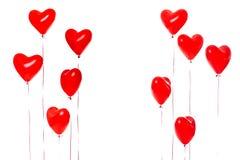 Bei palloni rossi del cuore immagine stock