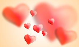 Bei palloni rossi del cuore Fotografie Stock