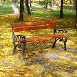 Bei parco e benche di autunno immagine stock