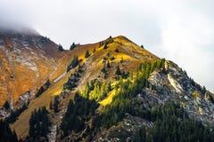 Bei pendii di alte alpi sul sole, concetto ambientale Immagine Stock Libera da Diritti