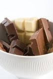 Bei pezzi del cioccolato Immagine Stock Libera da Diritti