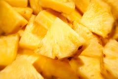 Bei pezzi dell'ananas fotografia stock