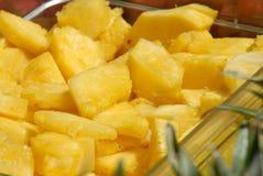 Bei pezzi dell'ananas Fotografia Stock Libera da Diritti