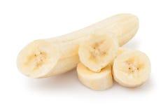 Bei pezzi della banana Fotografie Stock
