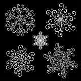 Bei piccoli fiocchi di neve di Deco Immagine Stock