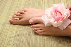 Bei piedi con il chiodo perfetto del francese della stazione termale Fotografia Stock