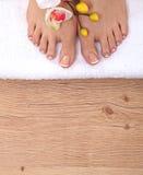 Bei piedi con il chiodo perfetto del francese della stazione termale Fotografia Stock Libera da Diritti