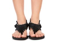 Bei piedi femminili Fotografie Stock Libere da Diritti