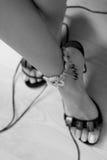 Bei piedini con il braccialetto Immagini Stock