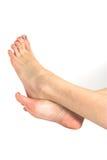 Bei piedini della donna immagini stock