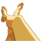 Bei piedini femminili royalty illustrazione gratis