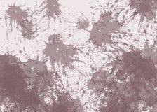 Bei punti marroni della CHIAZZA dell'estratto su fondo beige illustrazione di stock