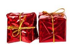 Bei regali di rosso di natale Fotografia Stock