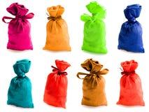 Bei sacchi multi-coloured Fotografia Stock Libera da Diritti