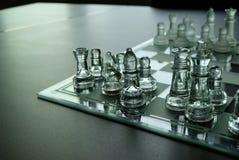 Bei scacchi di vetro fotografie stock