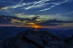 Bei Sonnenaufgang Stockfotografie