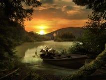 Bei Sonnenuntergang Stockfotografie