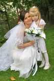 Bei sposa e bambino Fotografia Stock