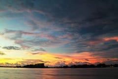 Bei tramonti sull'isola di Labuan Immagini Stock Libere da Diritti