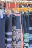 Bei vestiti tribali tailandesi e stile tribale del tessuto nel nessun Immagine Stock Libera da Diritti