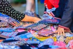 Bei vestiti tribali tailandesi e stile tribale del tessuto nel nessun Immagini Stock Libere da Diritti