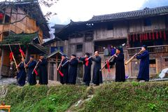 Bei villaggi originali in Guizhou, Cina Immagine Stock