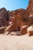 Beida, Beidah, Beidha, парк Petra археологический, Джордан, Ближний Восток Стоковые Фото