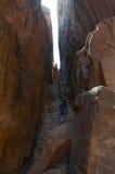 Beida, Beidah, Beidha, парк Petra археологический, Джордан, Ближний Восток Стоковая Фотография RF