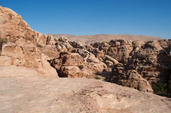 Beida, Beidah, Beidha, Petra Archaeological Park, Jordanië, Midden-Oosten stock foto's