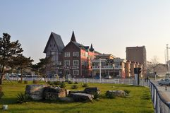 Beidaihe miasta krajobraz fotografia stock