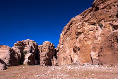 Beidha岩石  免版税库存图片