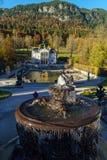 Beieren, Duitsland - Oktober 15, 2017: Linderhofpaleis 1863-188 Royalty-vrije Stock Foto's