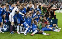 Beieren München versus Def. van cl van UEFA van Chelsea FC Royalty-vrije Stock Foto