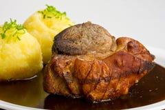 Beiers braadstukvarkensvlees stock afbeeldingen