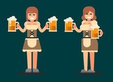 Beiers meisje Oktoberfestbier Fest Royalty-vrije Stock Afbeelding