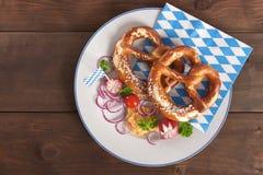 Beiers ontbijt stock foto