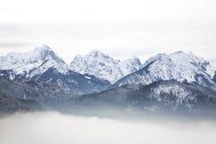 Beierse Alpen in de winter Stock Afbeelding