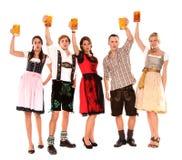 Beierse groep Stock Foto