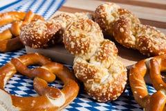 Beierse pretzelproducten Stock Afbeelding