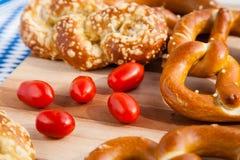 Beierse pretzelproducten Royalty-vrije Stock Afbeeldingen