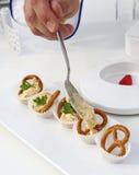 Beierse pretzels met bovenste laagje Stock Afbeelding