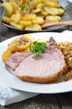 Beierse varkensvleesspareribs Stock Afbeelding