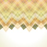 Beige Abstract Retro Vector Background. Fashion Zigzag Pattern of Color Stripes Stock Image