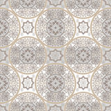 Beige abstract seamless lace pattern Royalty Free Stock Photos